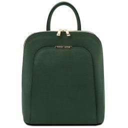 TL Bag Damenrucksack aus Saffiano Leder Tannengrün TL141631
