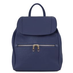 TL Bag Zaino donna in pelle morbida Blu scuro TL141697
