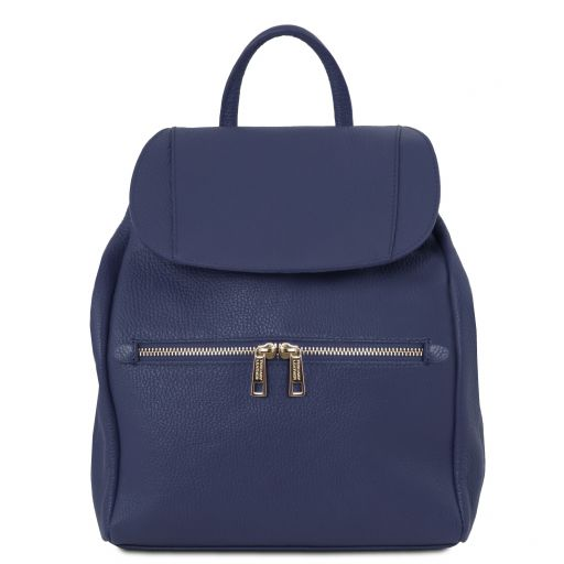 TL Bag Soft leather backpack for women Dark Blue TL141697