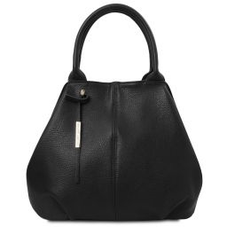 TL Bag Borsa a mano in pelle morbida Nero TL142005