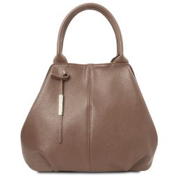 TL Bag Soft leather tote Dark Taupe TL142005