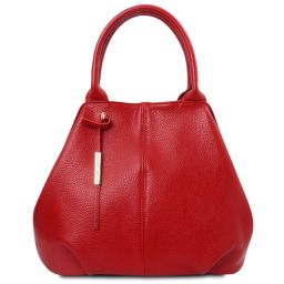 TL Bag Soft leather tote Lipstick Red TL142005