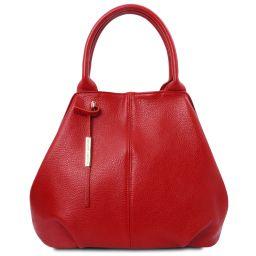 TL Bag Sac à main en cuir souple Rouge Lipstick TL142005