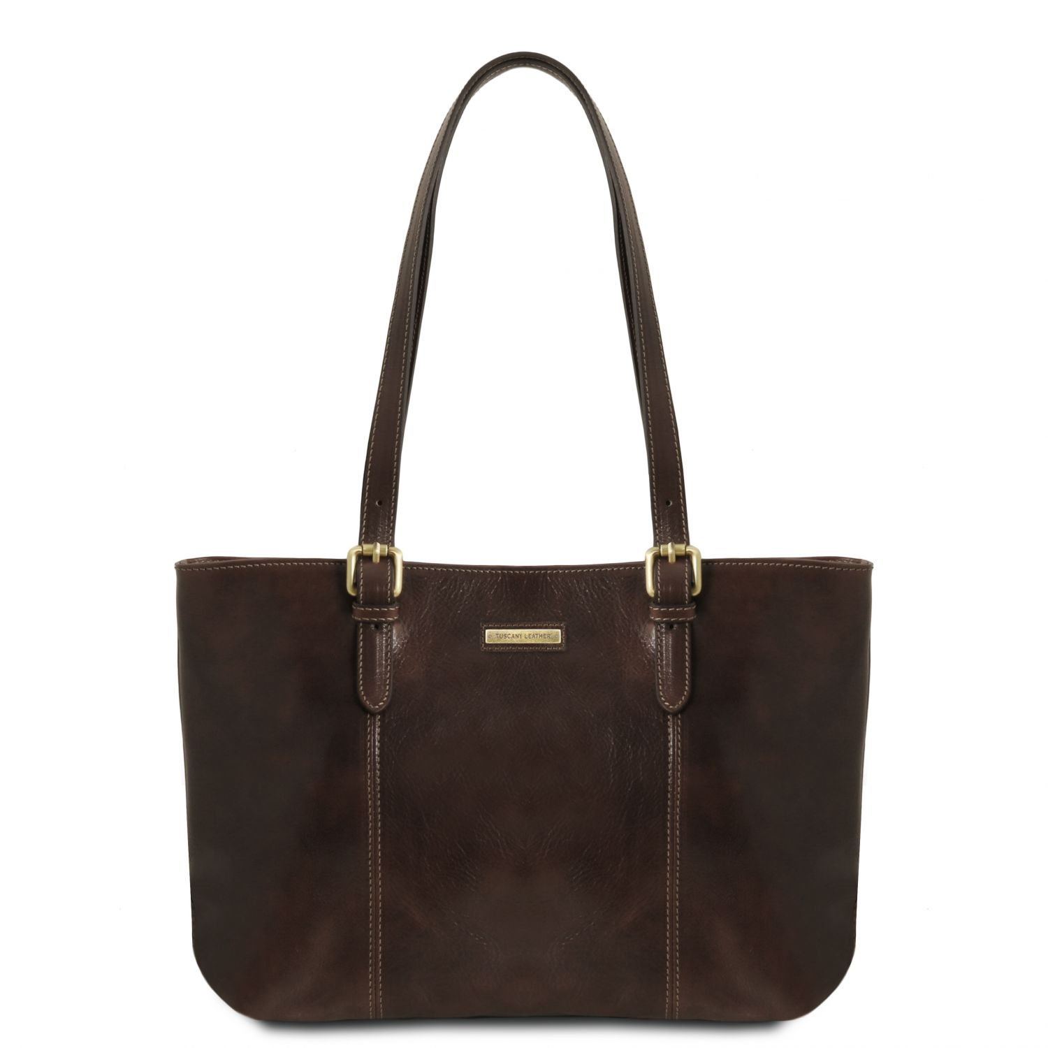 Leather Shopping Bag With Two Handles Made In Tuscany Region Italy Details about  /Annalisa