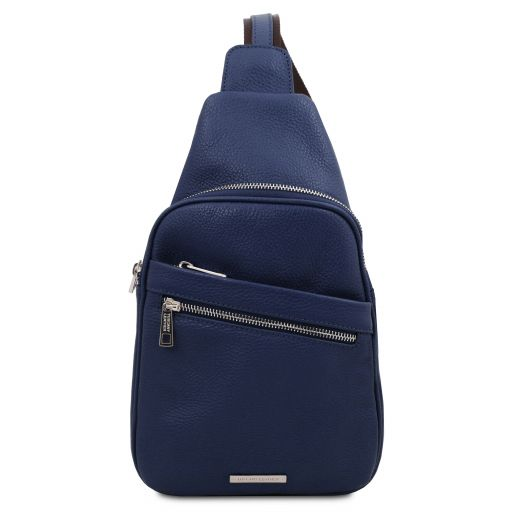Albert Monospalla in pelle morbida Blu scuro TL142022
