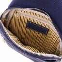 Albert Brusttasche aus weichem Leder Dunkelblau TL142022