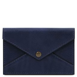 Leather business card / credit card holder Dark Blue TL142036