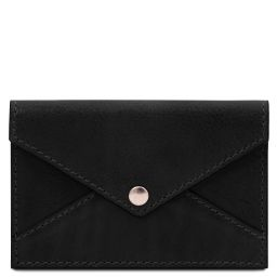 Leather business card / credit card holder Черный TL142036