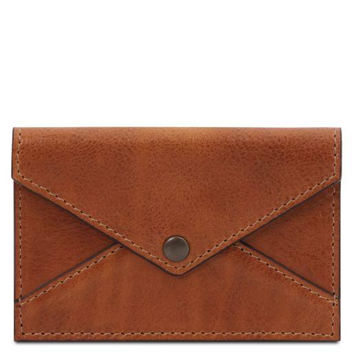 Porte-cartes de visite / cartes de crédit en cuir Miel TL142036