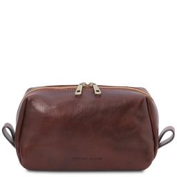 Owen Beauty case in pelle Marrone TL142025