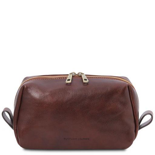 Owen Leather toilet bag Brown TL142025