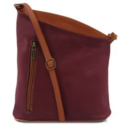 TL Bag Tracollina unisex in pelle Bordeaux TL141111