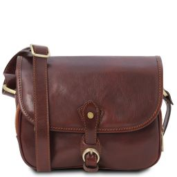 Alessia Leather shoulder bag Brown TL142020