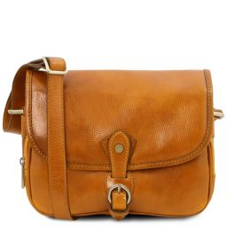 Alessia Leather shoulder bag Yellow TL142020