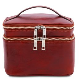 Eliot Beauty case in pelle Rosso TL142045
