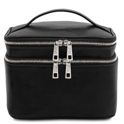 Eliot Leather toilet bag Black TL142045