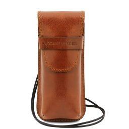 Exclusif étui pour lunettes/Smartphone/porte montres en cuir Miel TL141282