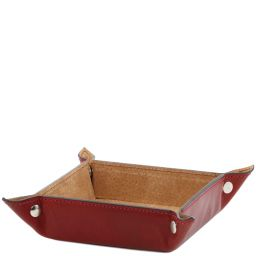 Exclusive leather valet tray Large size Red TL141271