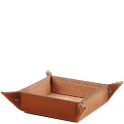 Exclusive leather valet tray Large size Honey TL141271