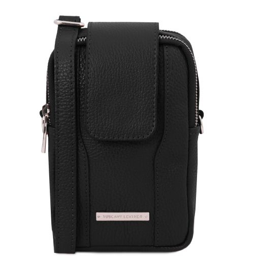 TL Bag Bolsillo Porta móvil en piel suave Negro TL141698