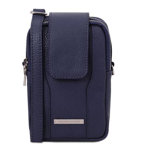 TL Bag Soft Leather cellphone holder mini cross bag Dark Blue TL141698