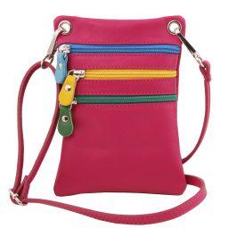 TL Bag Bolsillo unisex en piel suave Fucsia TL141094
