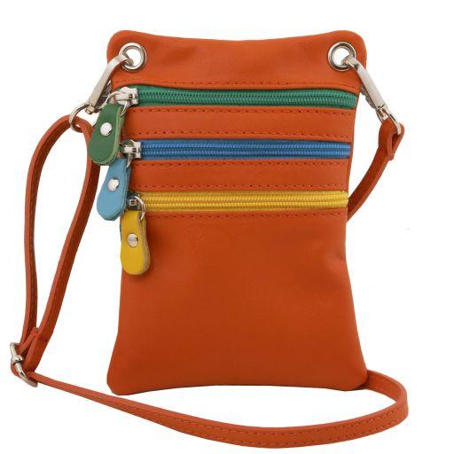 TL Bag Bolsillo unisex en piel suave Naranja TL141094