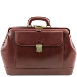 Leonardo Exclusive leather doctor bag Brown TL142072