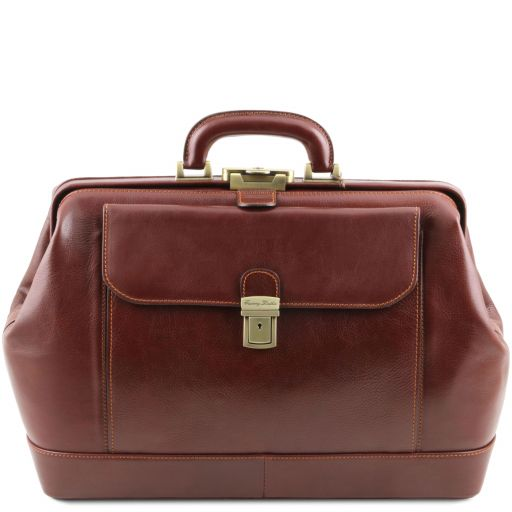 Leonardo Exclusive leather doctor bag Коричневый TL142072