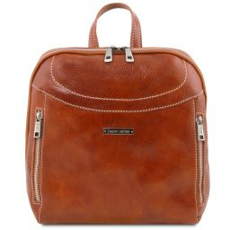 Manila Leather backpack Honey TL141557