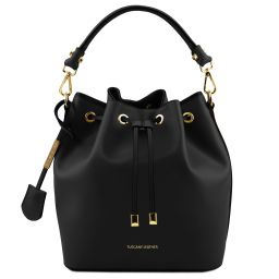 Vittoria Leather secchiello bag Black TL141531