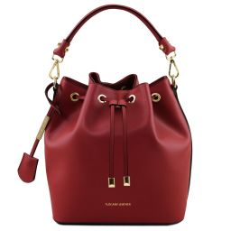 Vittoria Leather bucket bag Red TL141531
