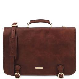 Ancona Messenger Tasche aus Leder Braun TL142073