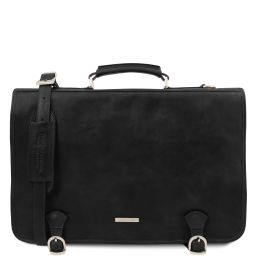 Ancona Leather messenger bag Black TL142073