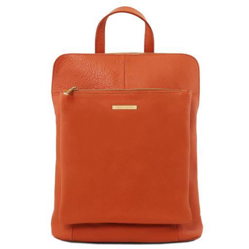 TL Bag Lederrucksack für Damen aus weichem Leder Brandy TL141682