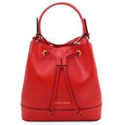 Minerva Leather secchiello bag Lipstick Red TL142050