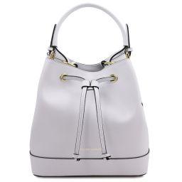Minerva Leather secchiello bag White TL142050