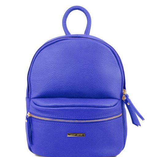 TL Bag Zaino donna in pelle morbida Blu TL141532