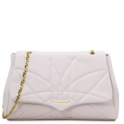 TL Bag Soft leather shoulder bag White TL142004