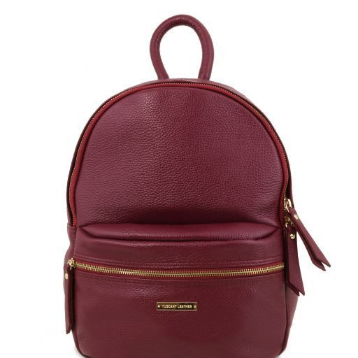 TL Bag Zaino donna in pelle morbida Bordeaux TL141532