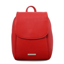 TL Bag Soft leather backpack Lipstick Red TL141905