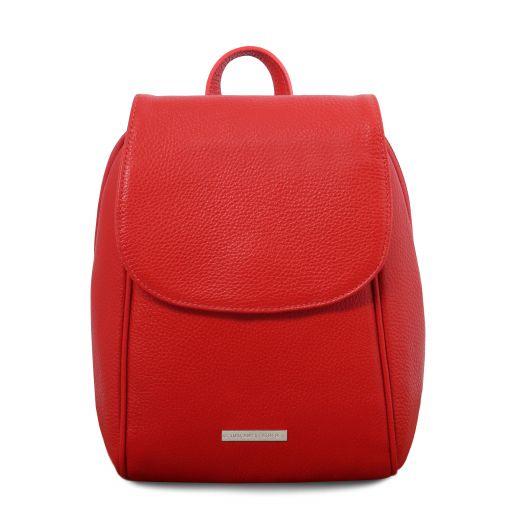 TL Bag Soft leather backpack Lipstick Red TL141905