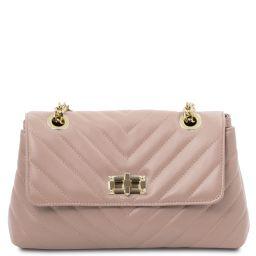 TL Bag Borsa a tracolla in pelle morbida Ballet Pink TL142015
