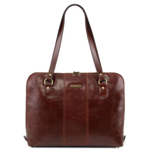 Ravenna Damen Business Tasche aus Leder Braun TL141795
