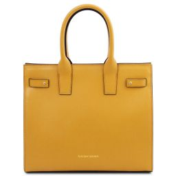 Catherine Leather handbag Желтый TL141933