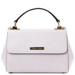 TL Bag Leather handbag - Small size White TL142076