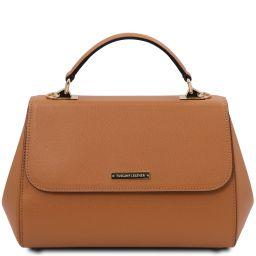 TL Bag Leather handbag - Large size Cognac TL142077