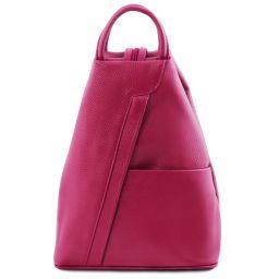 Shanghai Leather backpack Fucsia TL141881