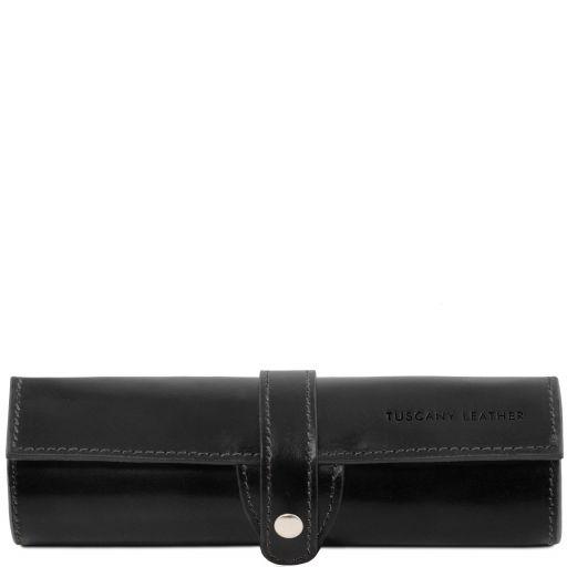 Esclusivo porta penne in pelle Nero TL141620