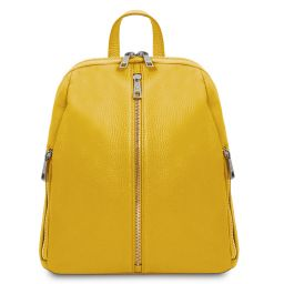TL Bag Soft leather backpack for women Yellow TL141982
